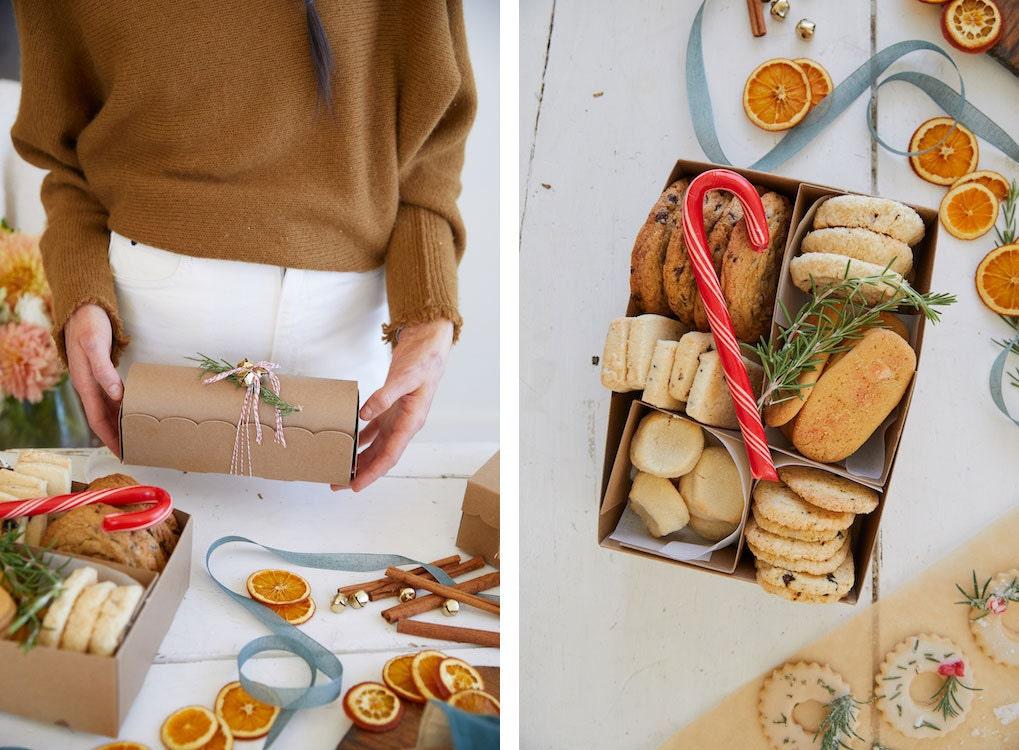 Classic and treasure-box shaped cookie box kits from A La Modo