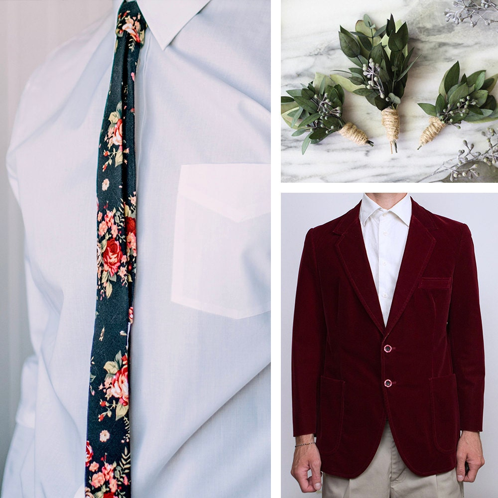 A collage of Etsy items hand-picked to match Terrell's style