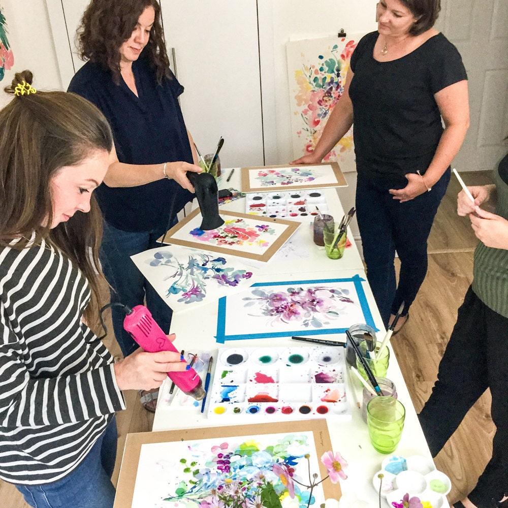 A watercolor workshop hosted by Ingrid Sanchez