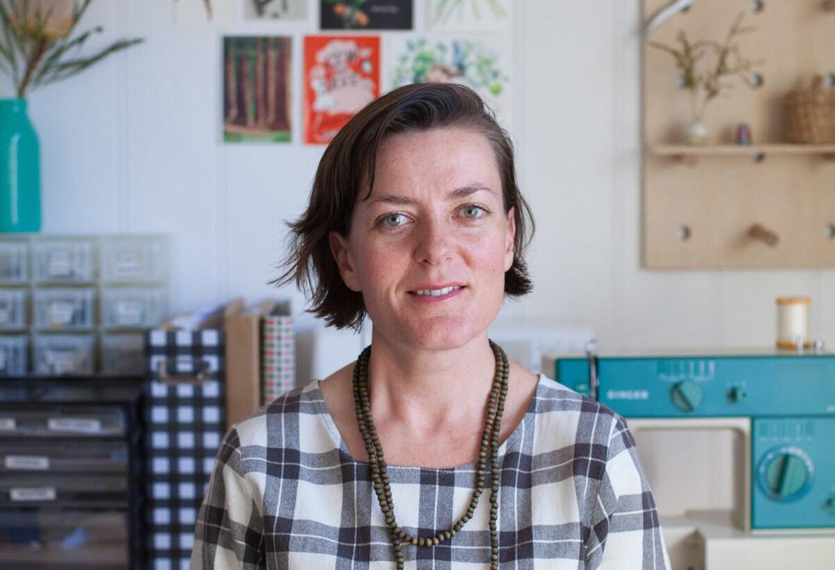 Portrait of écolier kids designer Madeline Bell