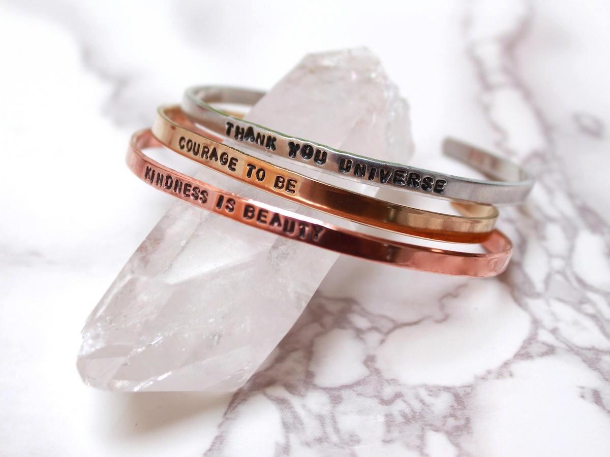 Custom cuff bracelet from Drishti Handmade