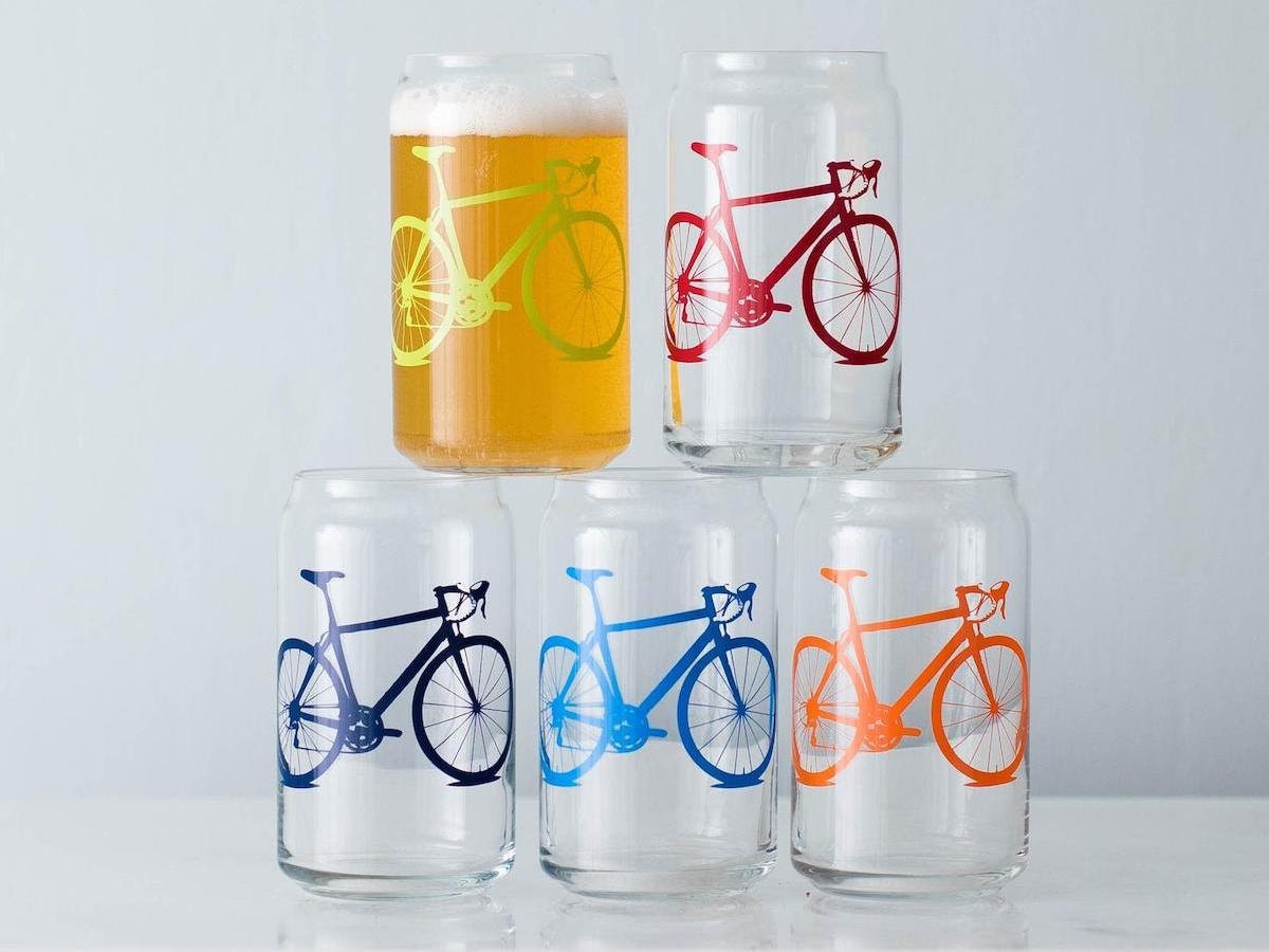 Bicycle beer glasses Father's Day gifts