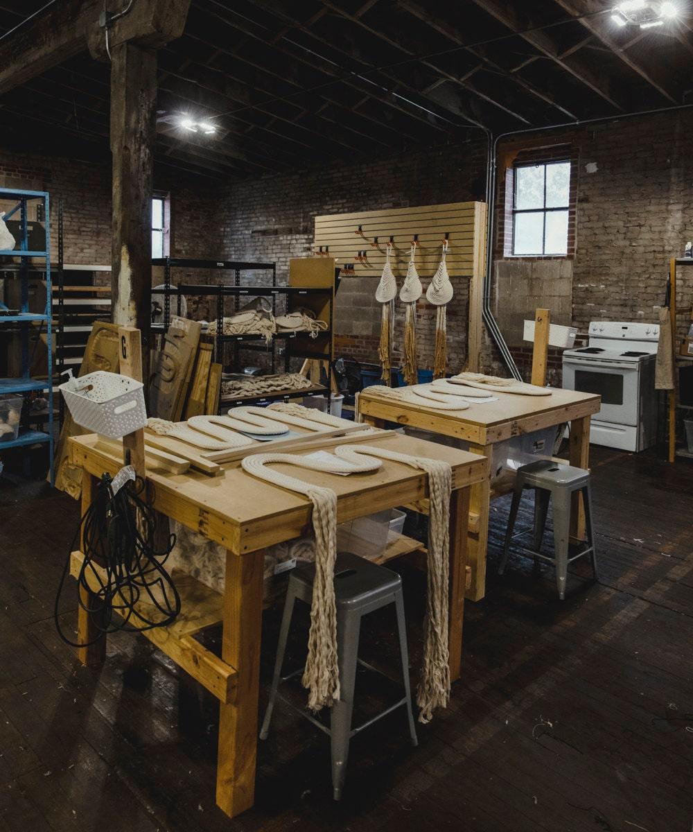 Candice's Iowa-based workshop.