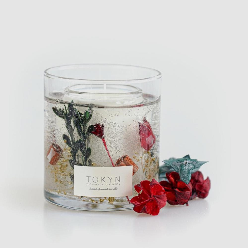 Fraser fir-scented candle from Tokyn Candles