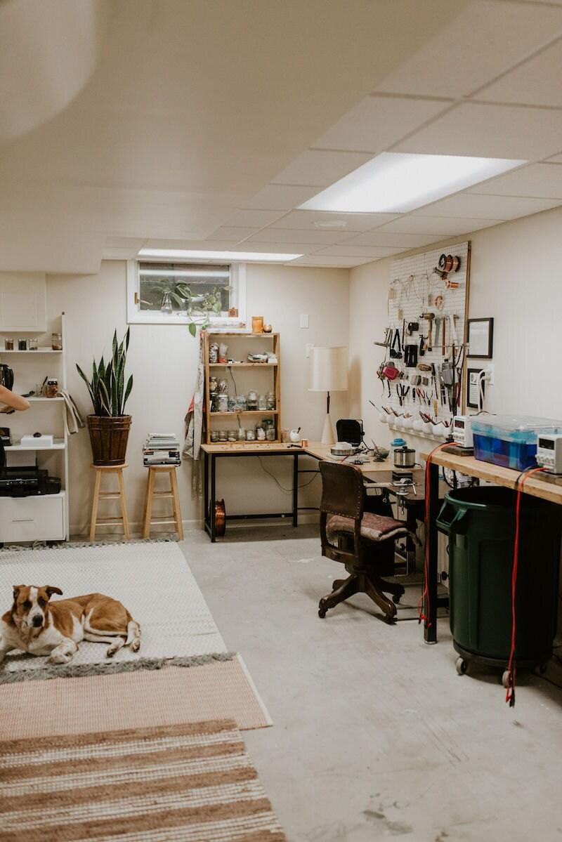 Alicia's bright, tidy studio