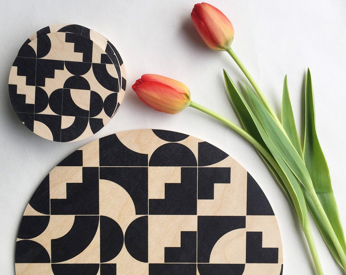 Trivets and coasters from Etsy