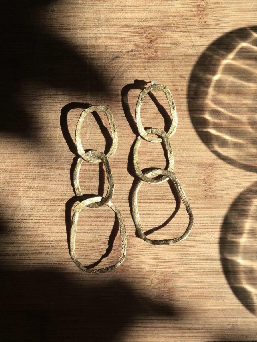 Rustic chain earrings from Mai Solorzano