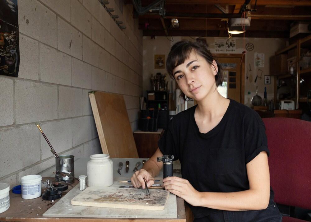 Jieun Reiner in her studio