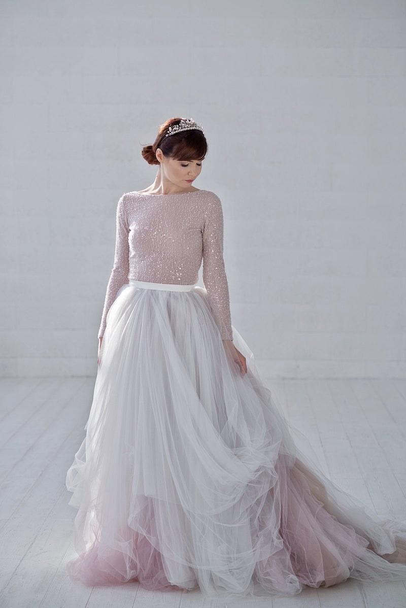 Raina ombré tulle bridal skirt from Wardrobe by Dulcinea