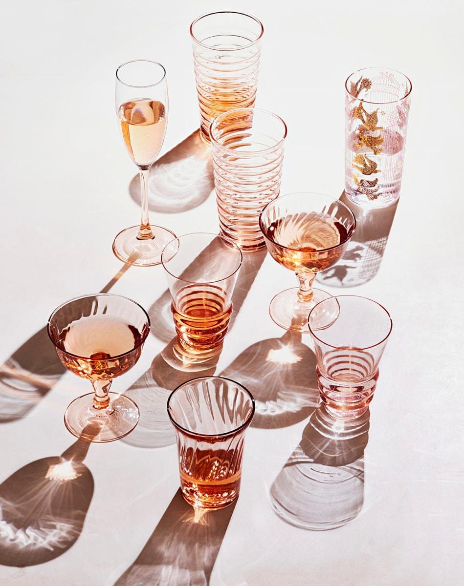 pink Depression glassware on Etsy