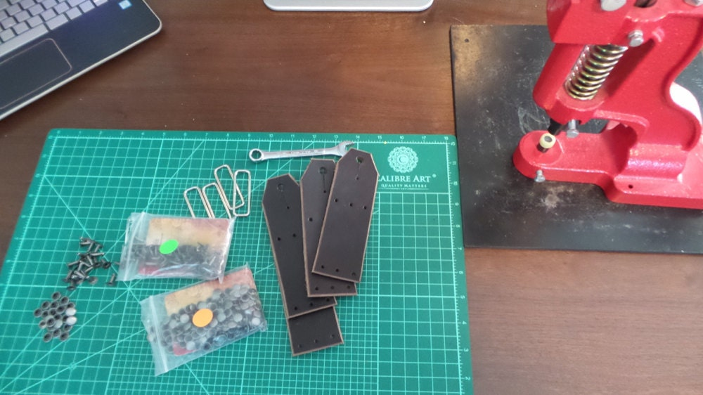More strap elements awaiting assembly