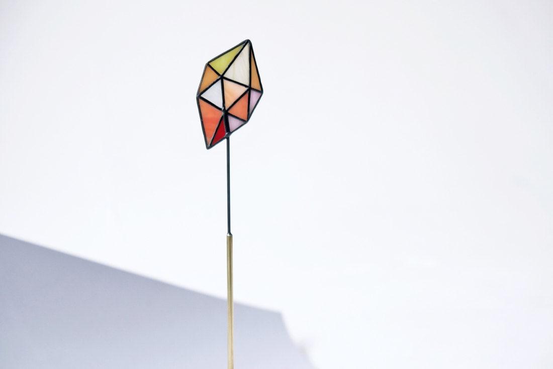 Stained-glass crystal suncatcher from Elena Zaycman
