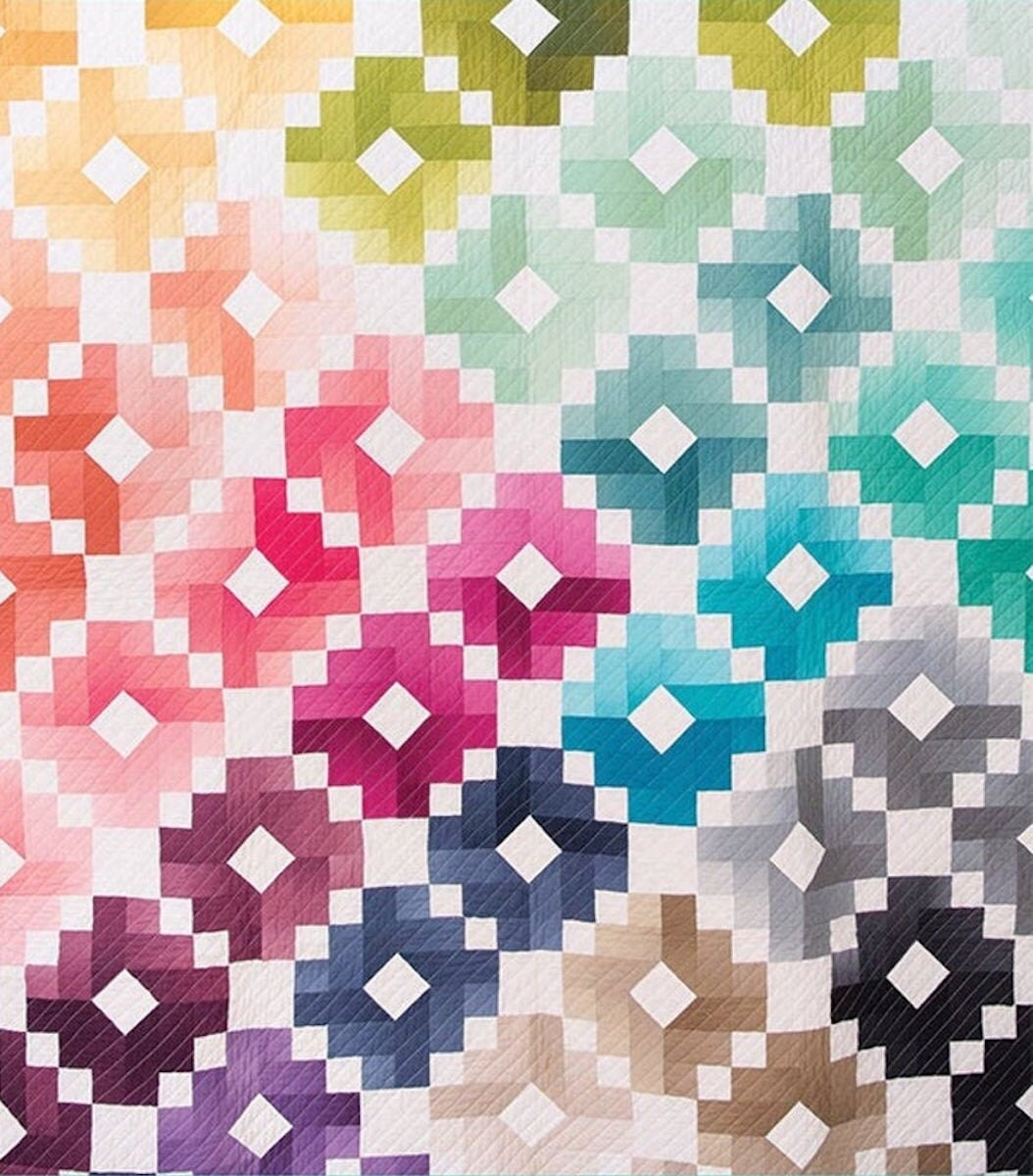 An ombré quilt kit from Etsy