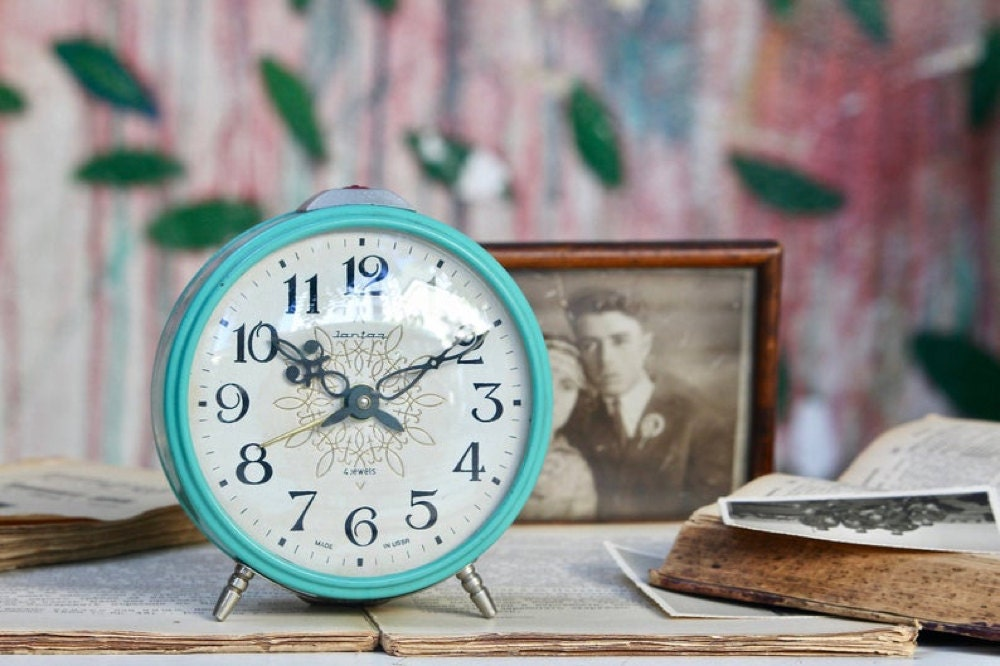 A vintage mechanical alarm clock from NarMag