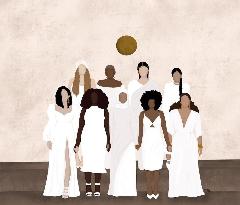 """""""Supporting Women"""" print from M. Koby Art"""