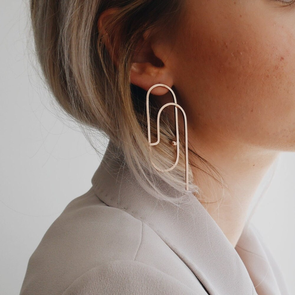 Modern, minimalist earrings from Maison Lima