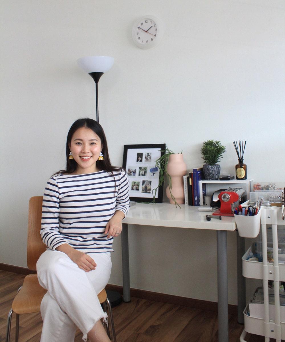 A portrait of TSUNJA jewelry designer Jessica Jasmine in her Singapore studio.