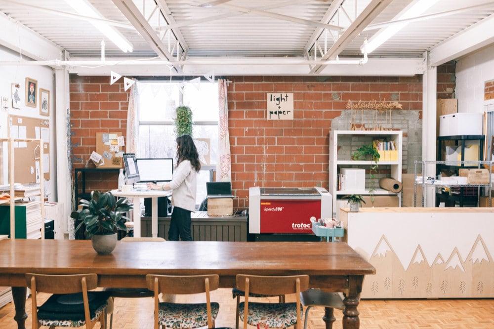 Ali's Toronto-based studio space.