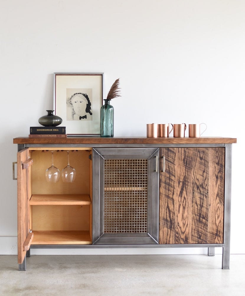 Reclaimed barnwood credenza from What WE Make
