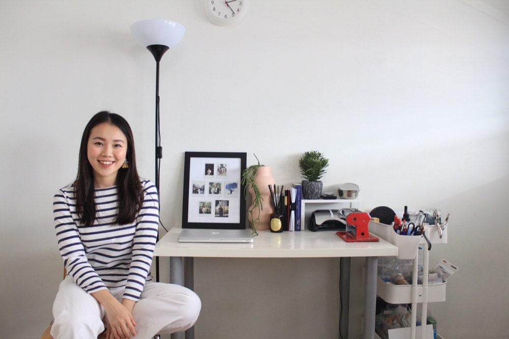 A portrait of Jessica Jasmine in her studio.