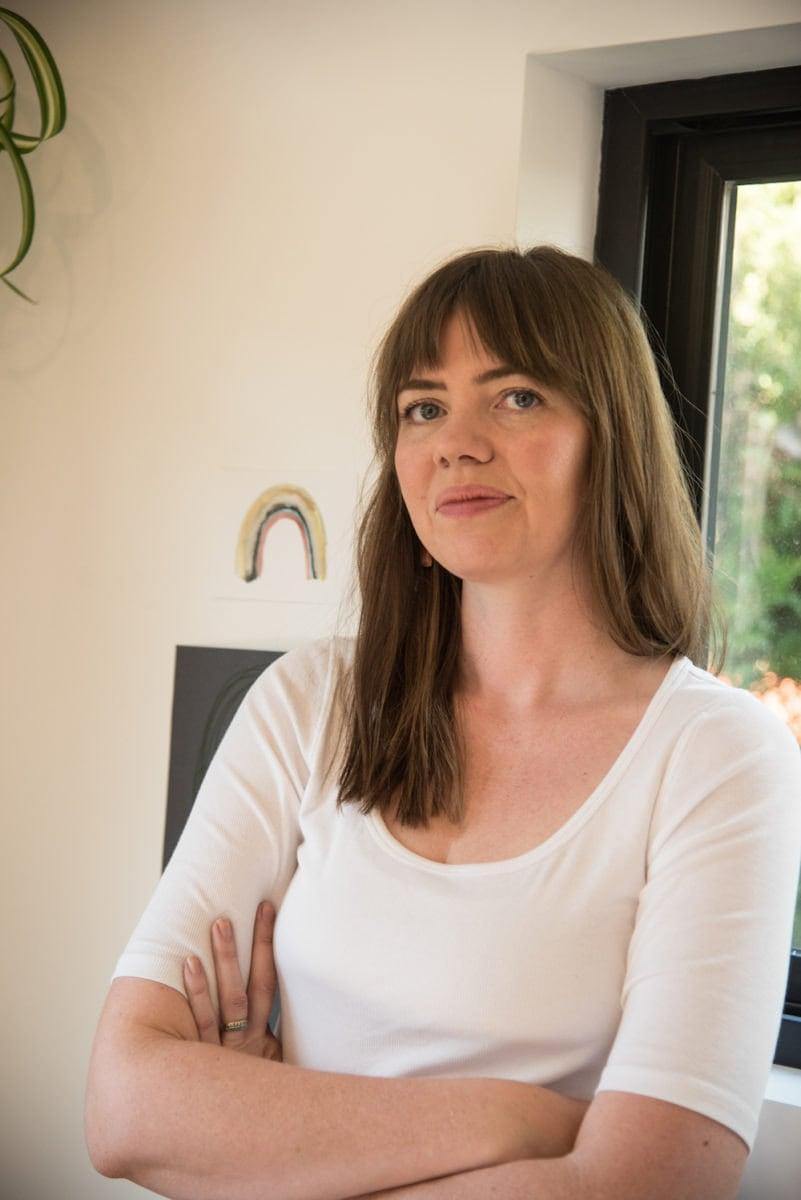 Portrait of Sarah in her studio