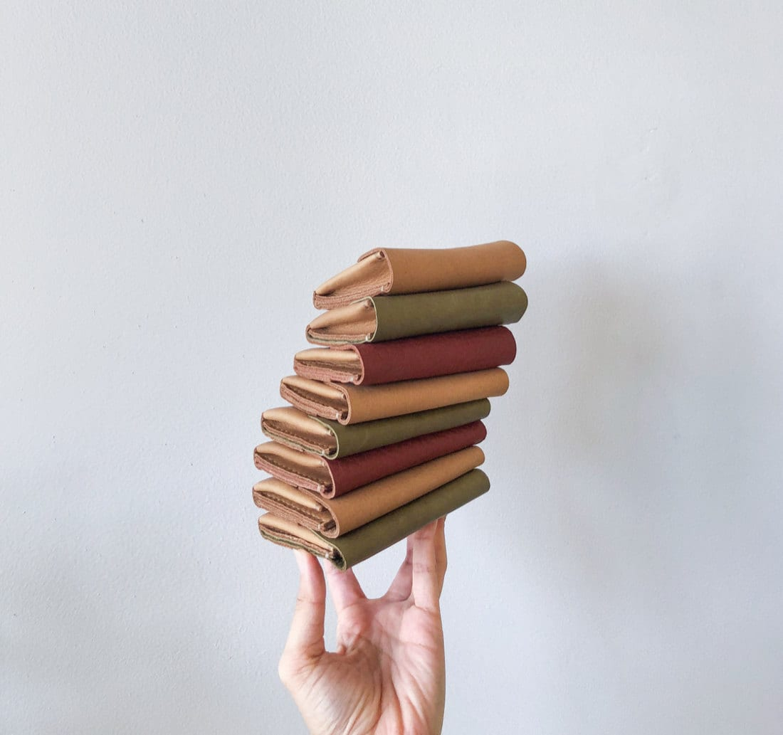 Assorted leather mini wallets from Small Queue