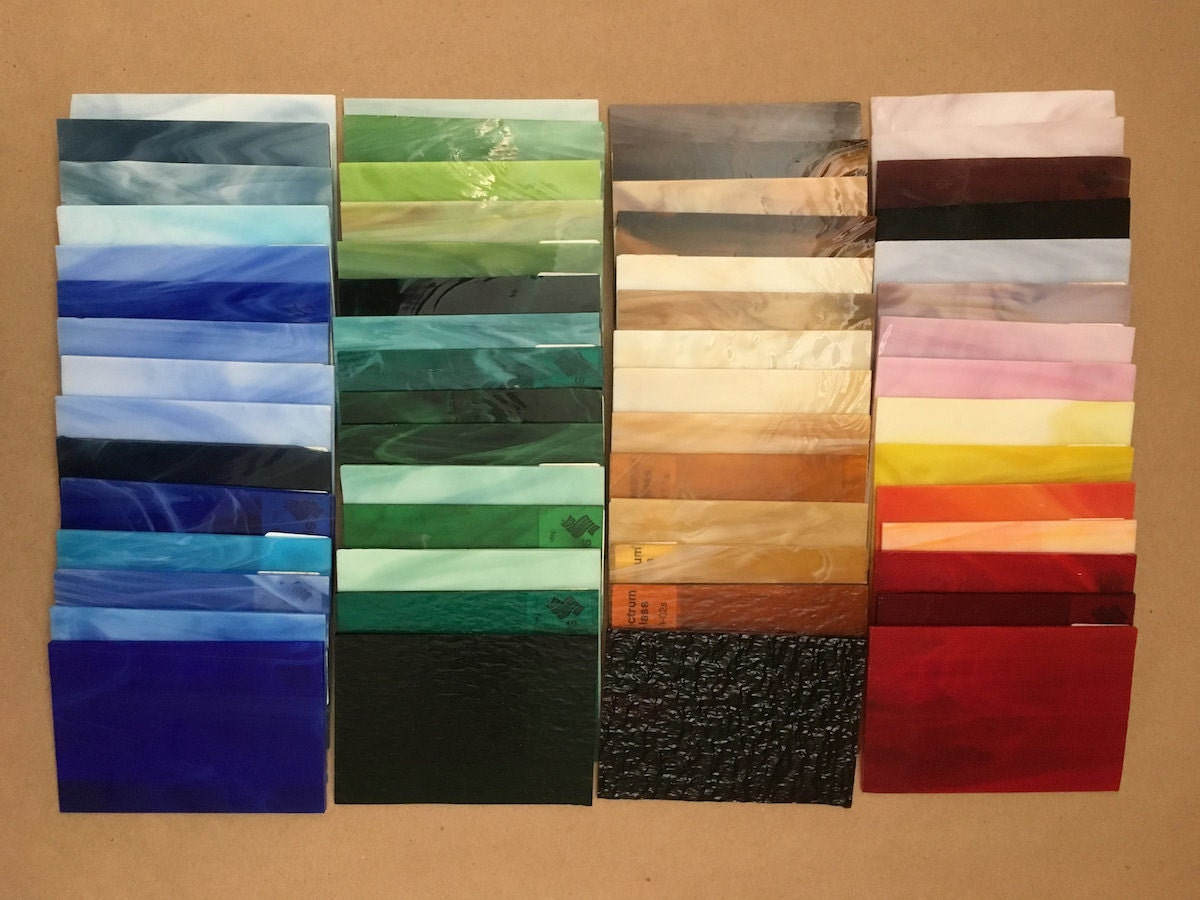 Alla's stained glass color swatches