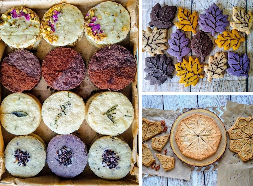 Assorted baked goods from The Chocolate Tortoise