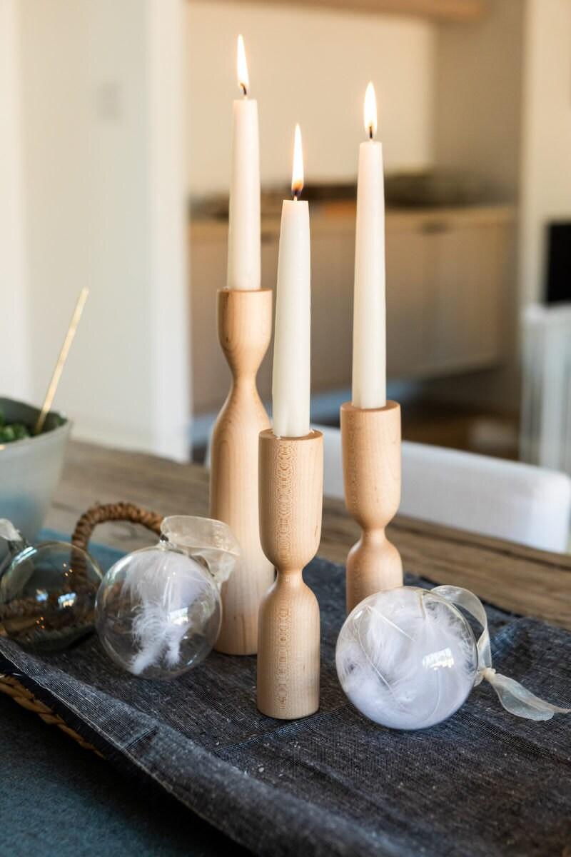JoJo Fletcher x Etsy wooden candle holders