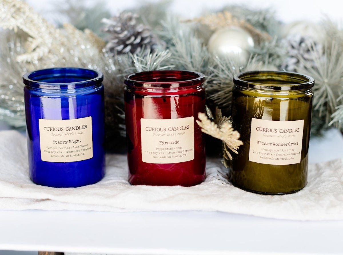 Winter Collection from Curious Candles Studio on Etsy