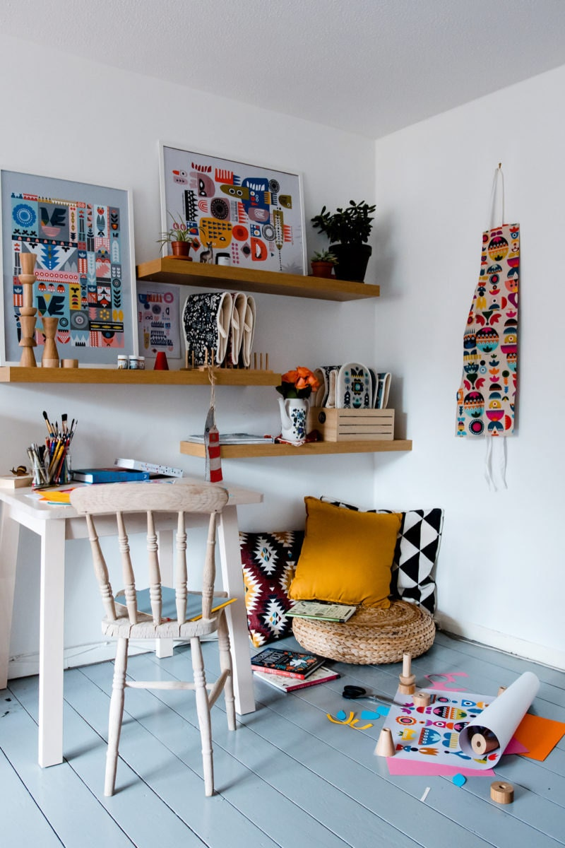 Tatiana's colorful studio space