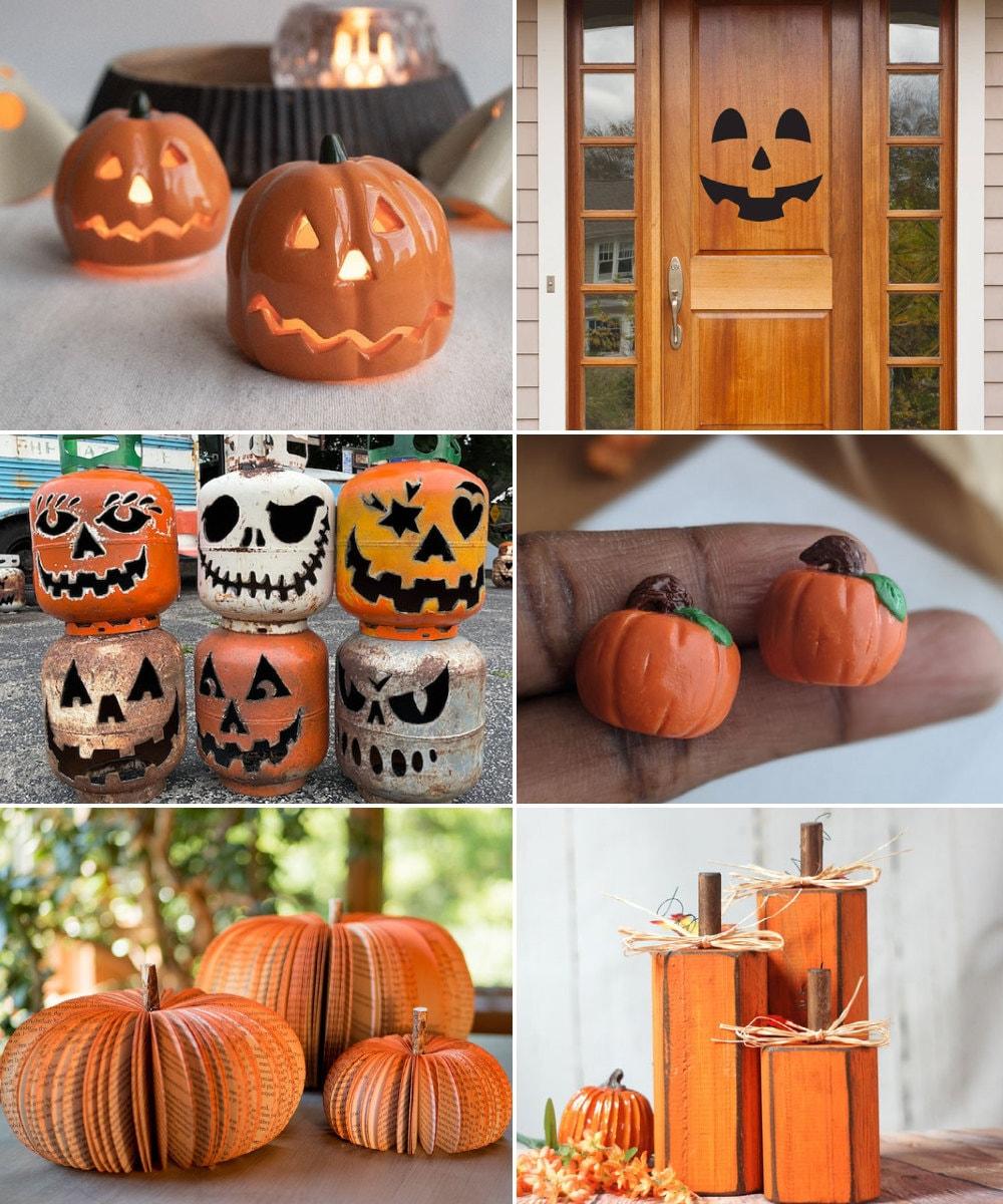Pumpkin alternative decorating ideas for Halloween, from Etsy