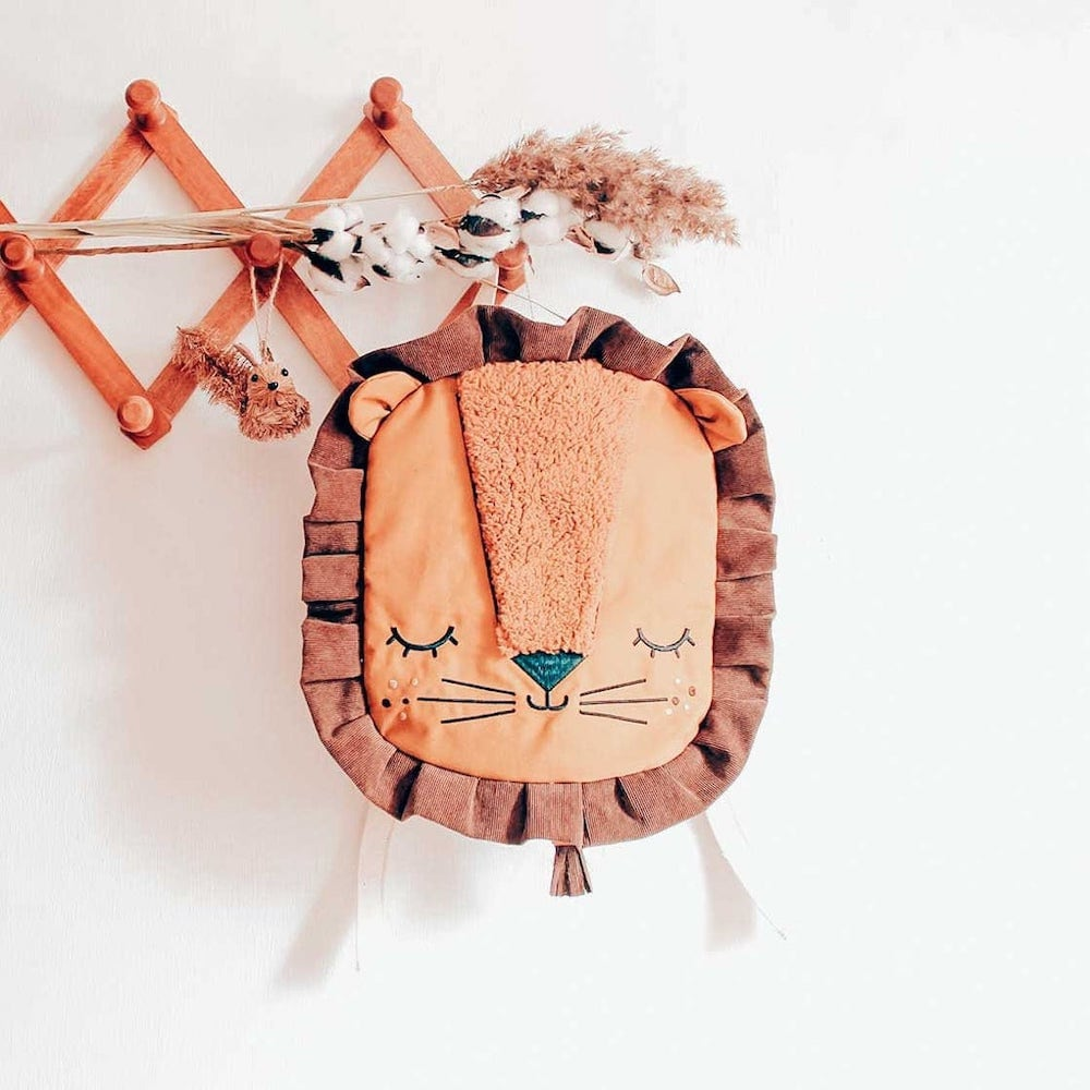 Lion fall fashion backpack for kids from Apple Juice Mini