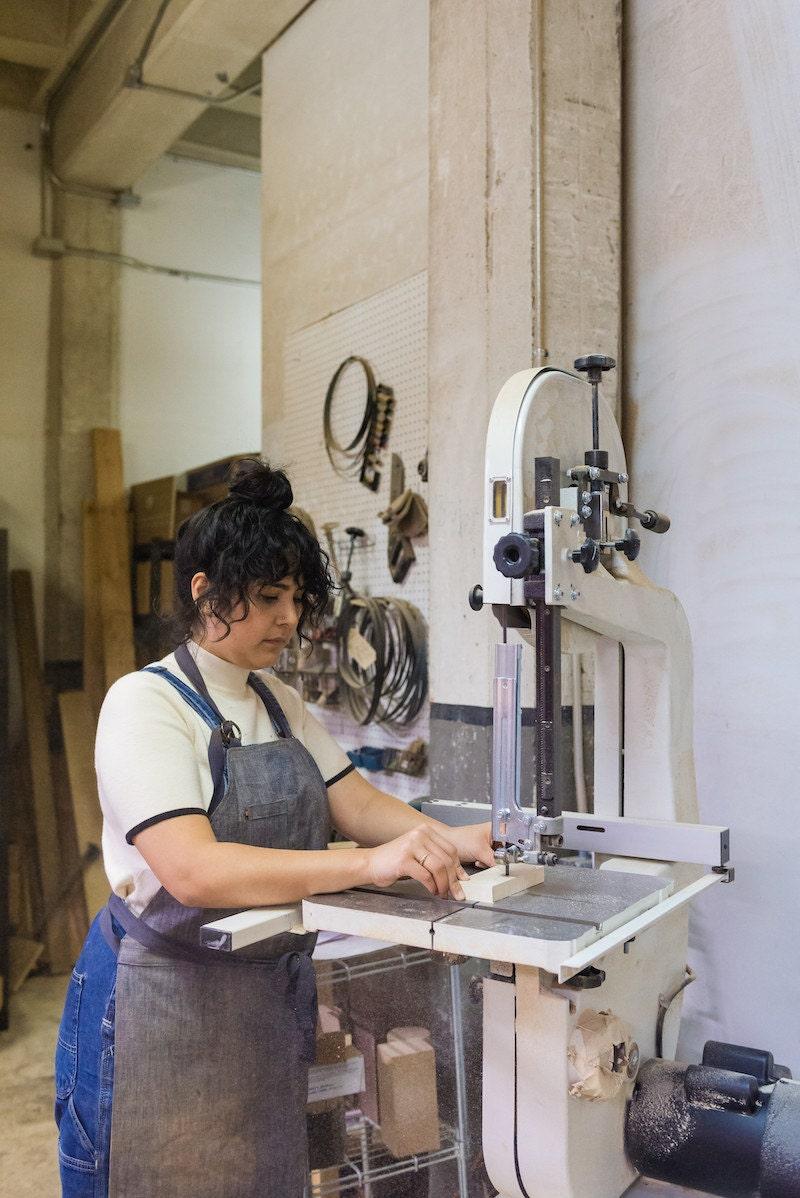 Melanie at work in her studio