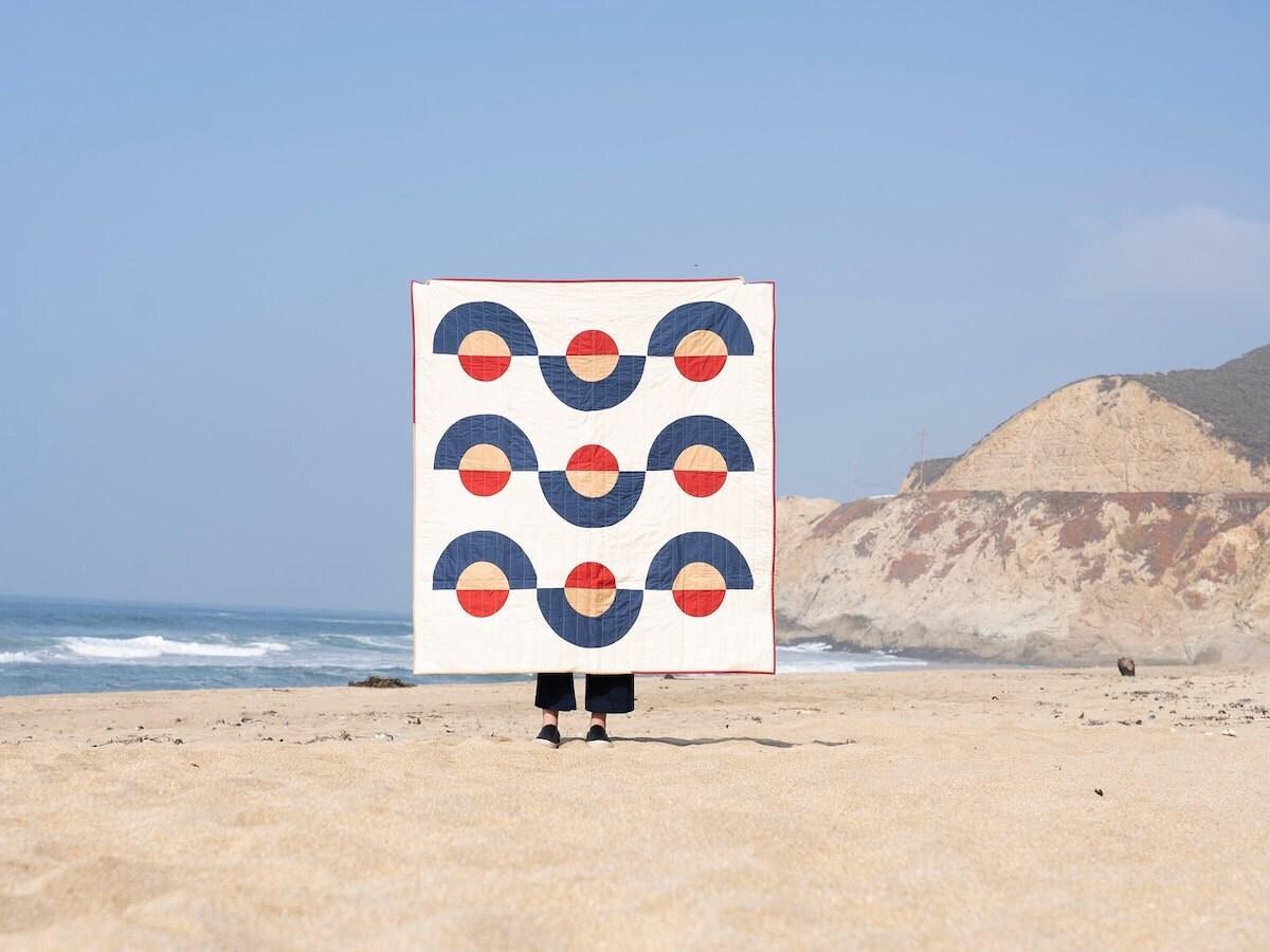 Sunrise inspired quilt pattern on Etsy