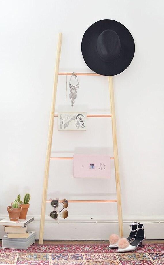 copper-wood-ladder-diy