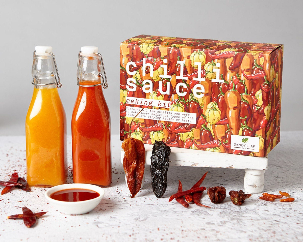 Chili sauce-making kit from Sandy Leaf Farm, on Etsy
