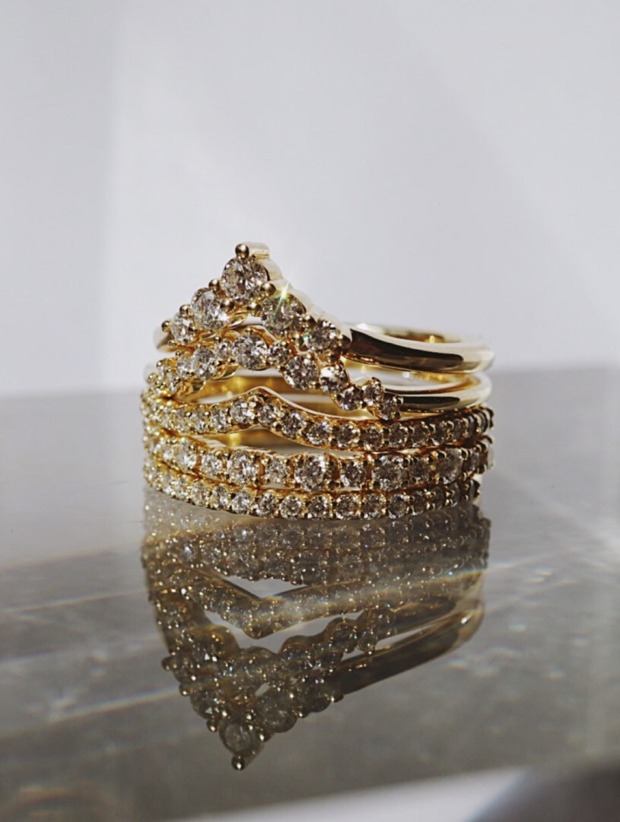 Stacking ceremony rings from Foe & Dear