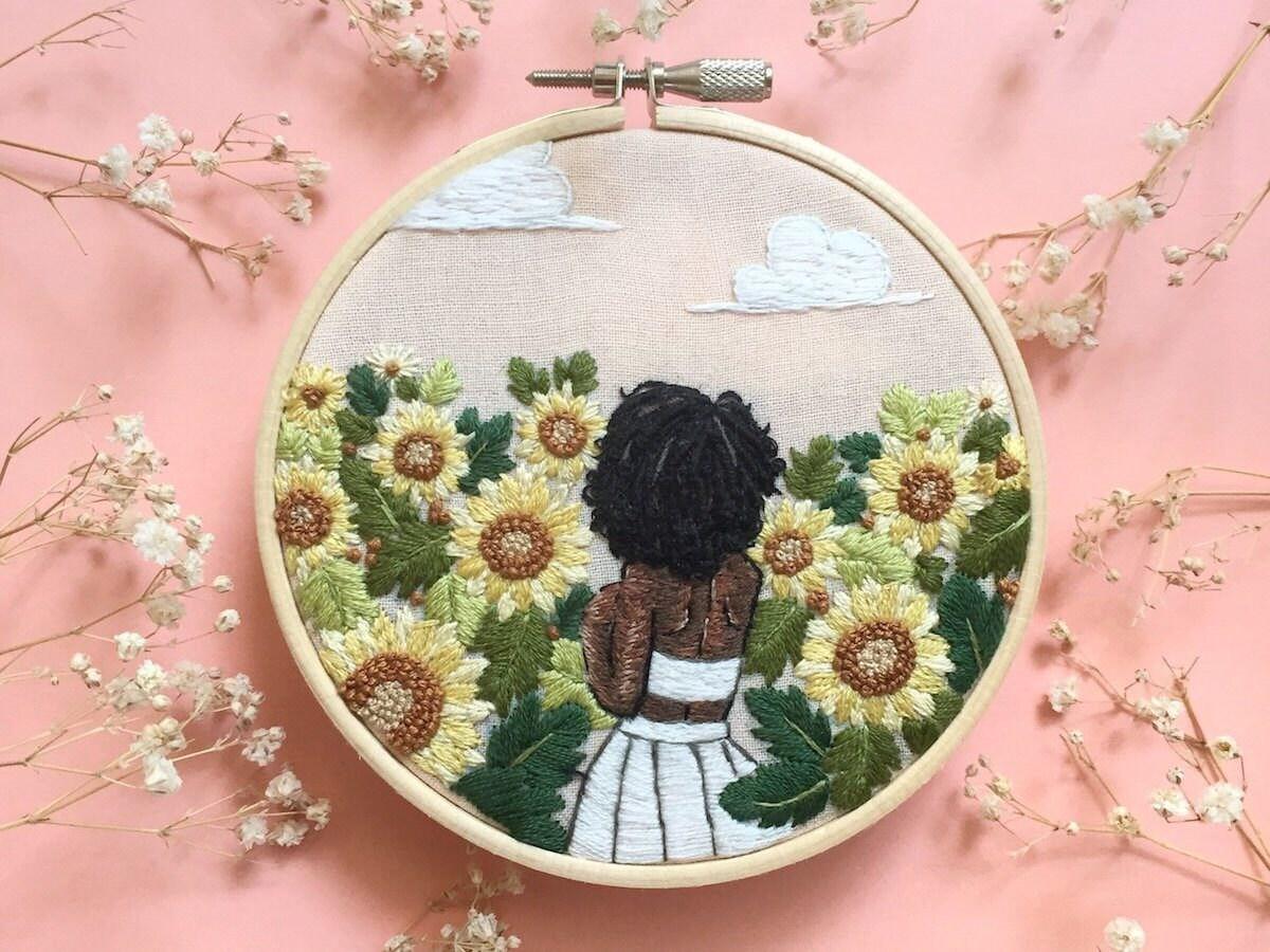 Custom embroidery from Ria Paramita