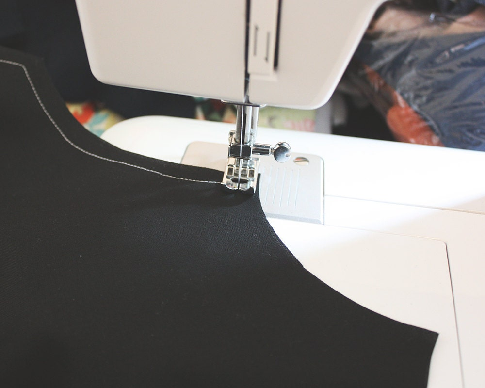 Sewing the wings of an easy DIY bat costume