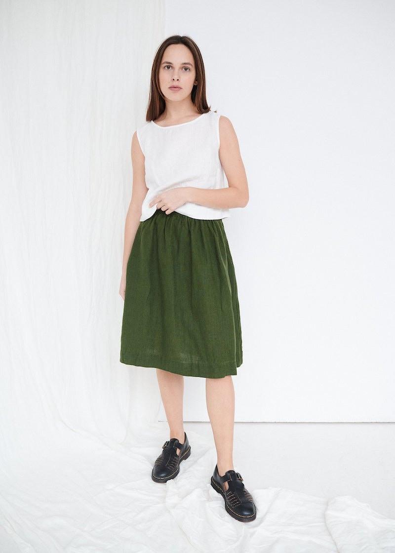 Linen Laura skirt from Linenfox