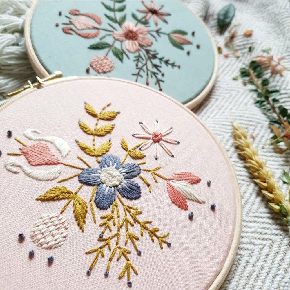 Harvest morning embroidery kit from Natalie Gaynor Designs