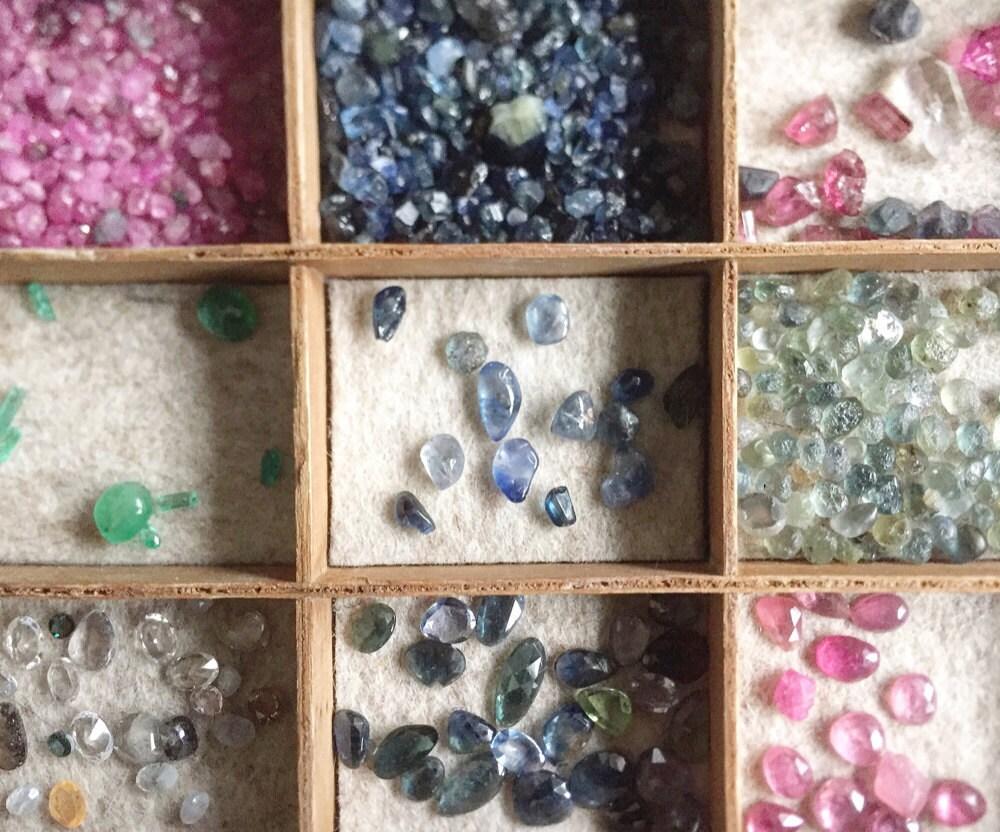 Raw gemstones awaiting use