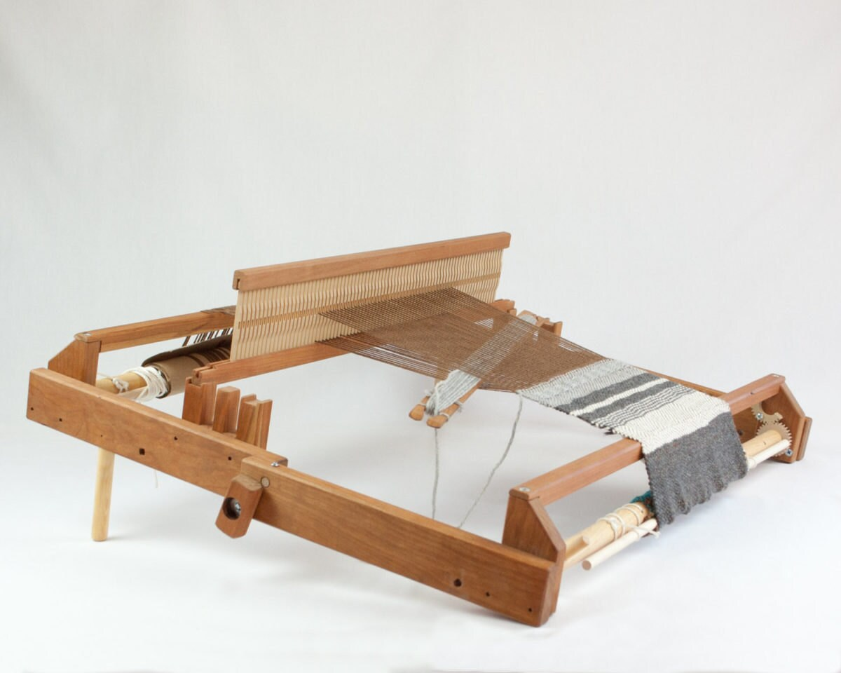 """A fold and go 20"""" rigid heddle loom from Oake and Ashe"""