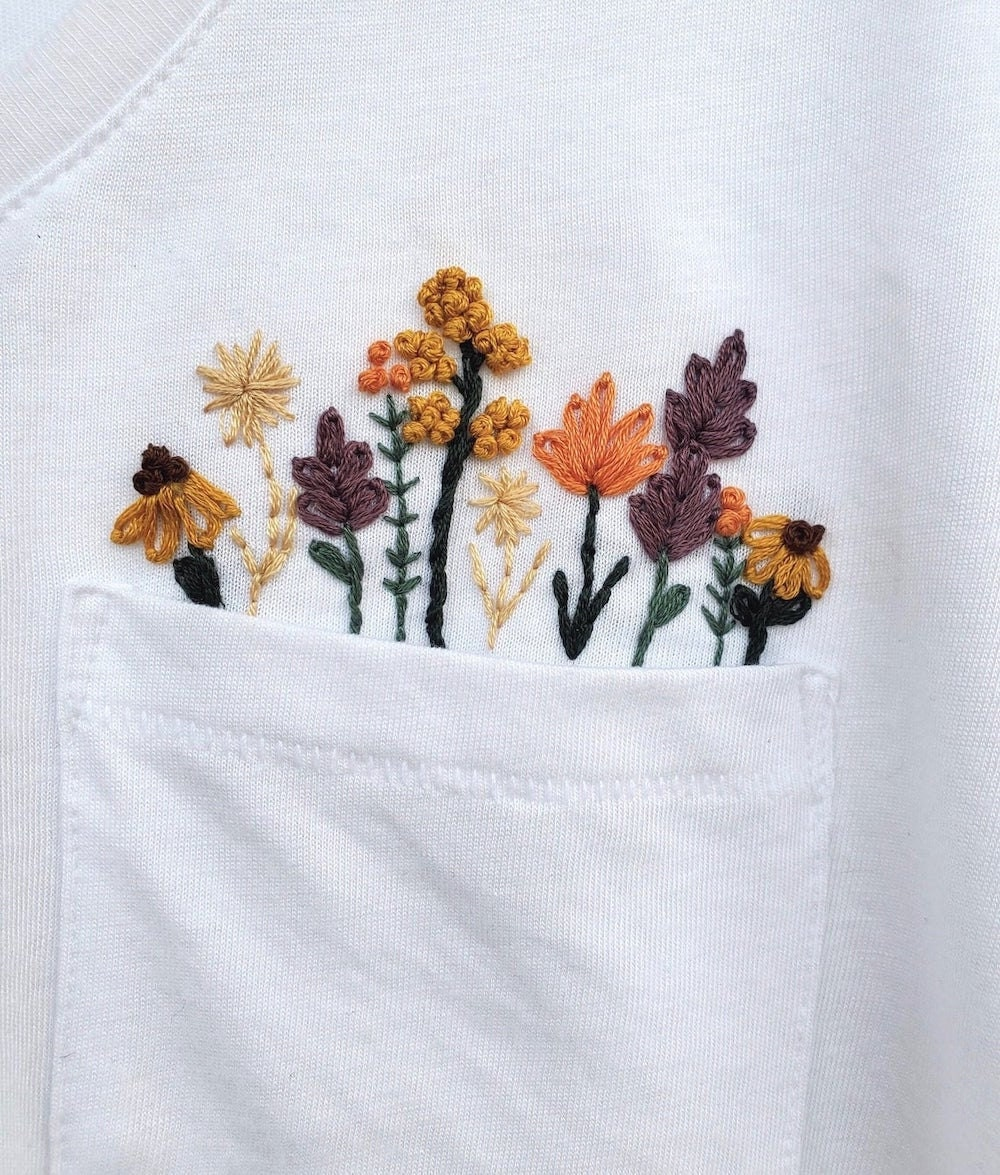 Downloadable floral embroidery pattern