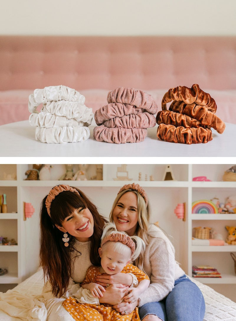 Ruched headbands from the A Beautiful Mess x Etsy collection