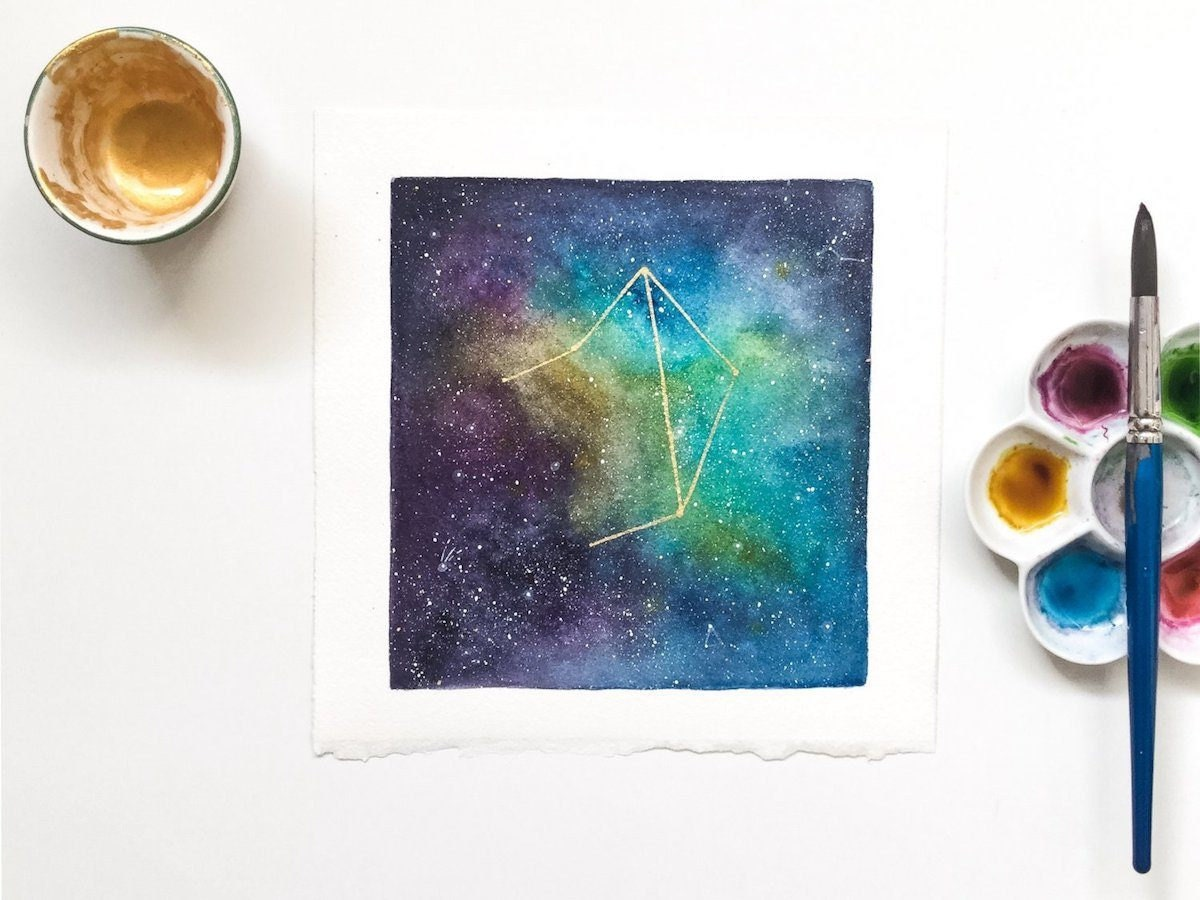 Star sign water color from CreativeIngrid