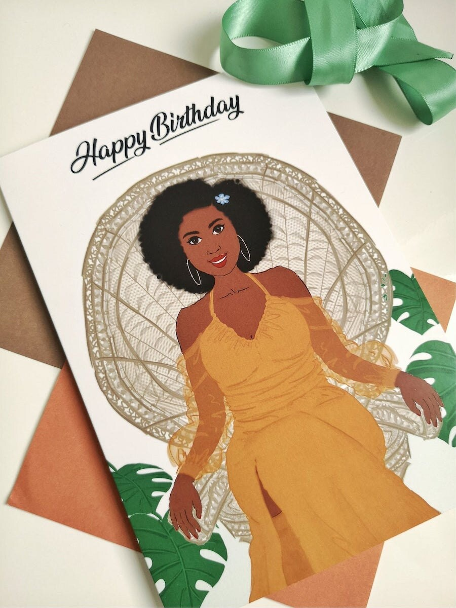 """""""Arlene"""" greeting card from Nicola Lespeare, on Etsy"""