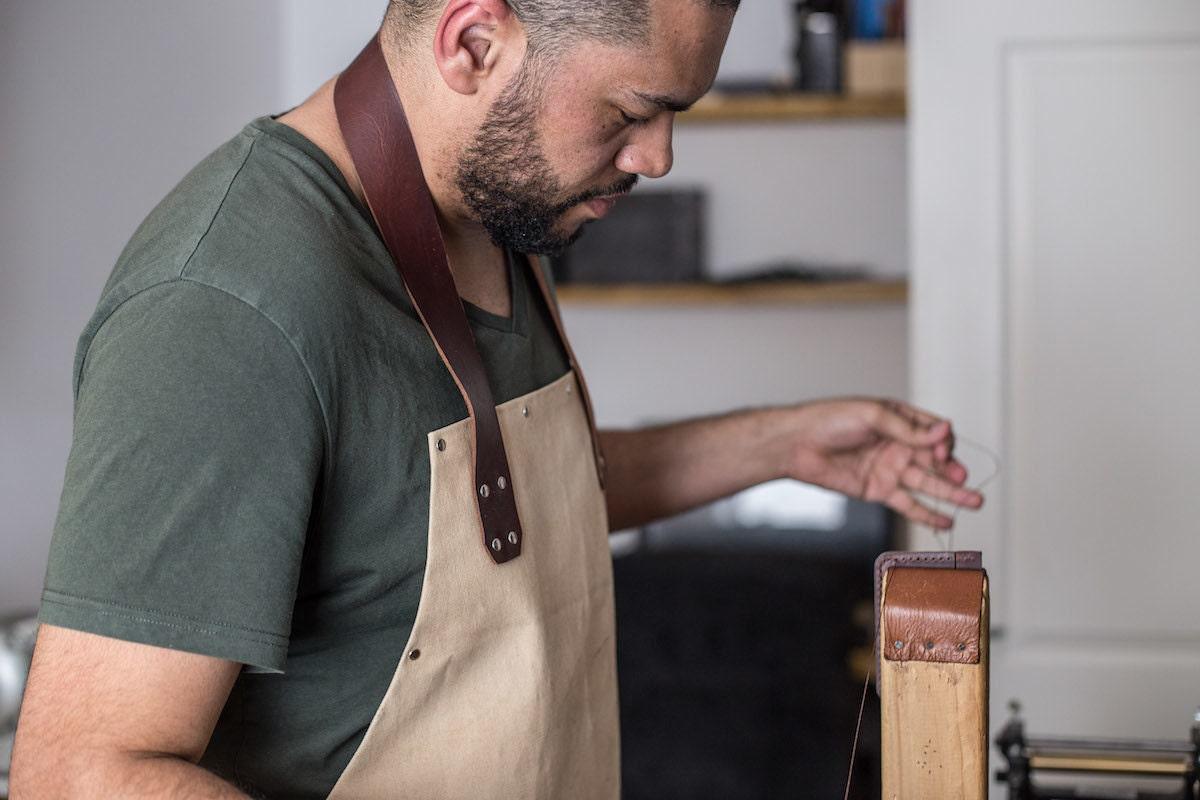 Kingsley at work in his studio