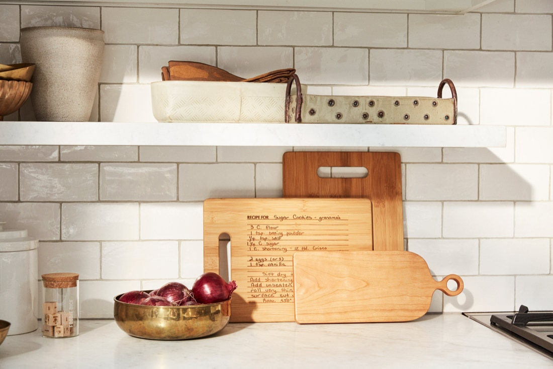 A kitchen countertop styled with elevated essentials